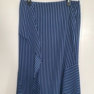 🎁4-25$Banana Republic striped ruffled long skirt